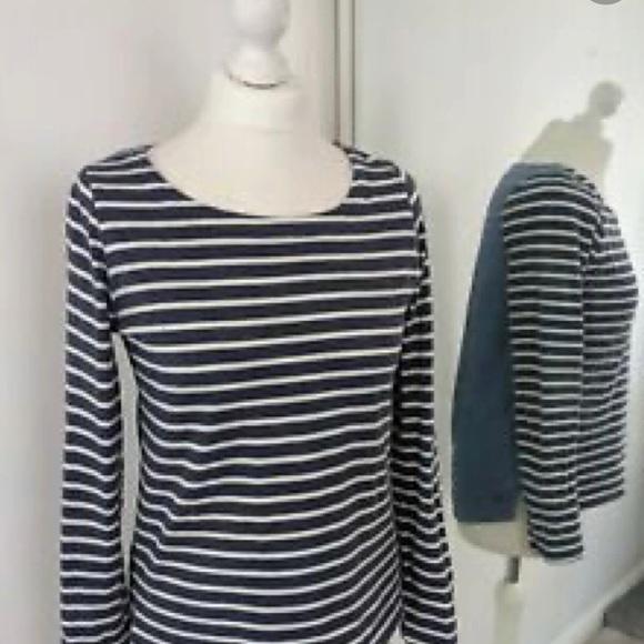 Joules Navy White Harbour Stripe Long Sleeve Shirt